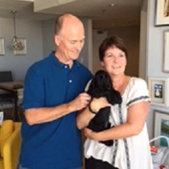 Bruce and Cindy with Cooper