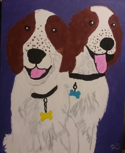 Kendyl and Saylor painted by Sara 8-26-18